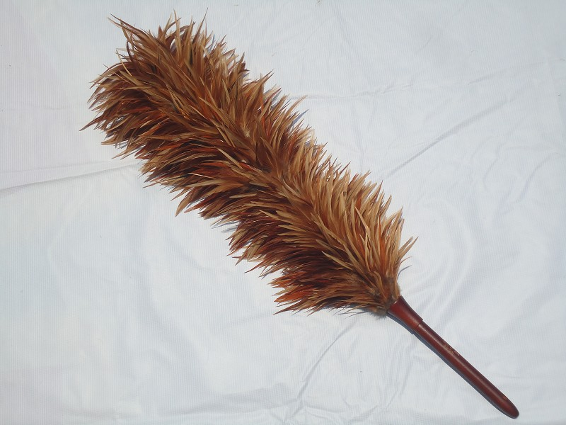 smart chicken feather duster with wood handle